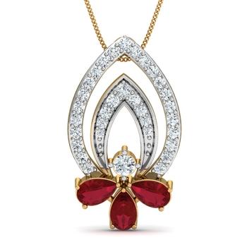 Arkina Diamond's The Carina red pendent