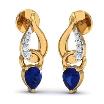 Arkina Diamond's Ruby studs diamond earrings
