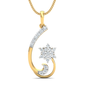 Arkina Diamond's star diamond curved pendent