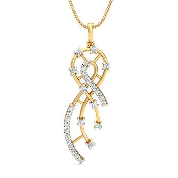 Arkina Diamond's sizzling diamond studded pendent