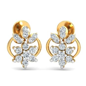 Arkina Diamond's Petal diamond earrings