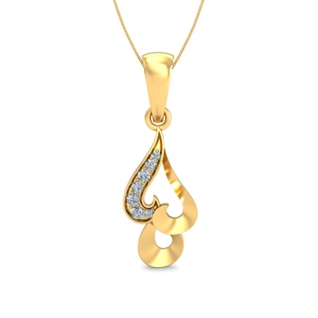 Arkina Diamond's Planate Gold Heart pendent