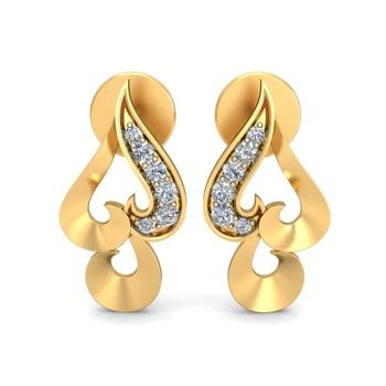 Arkina Diamond's Planate Gold Heart Earrings
