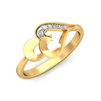 Arkina Diamond's Planate Gold Heart ring