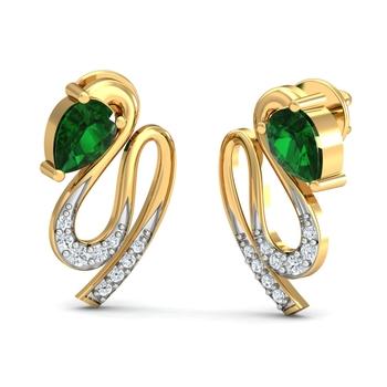Arkina Diamond's Peacock Dance Earrings