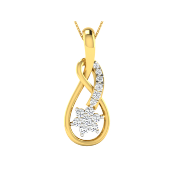 Arkina Diamond's glossy floral pendent