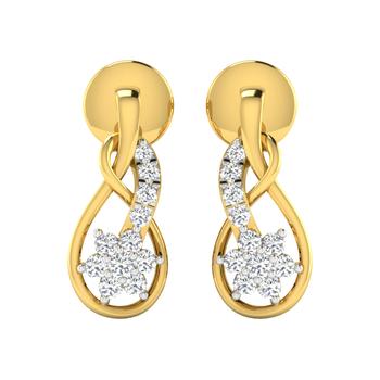 Arkina Diamond's glossy floral earring