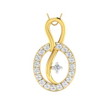 Arkina Diamond's Circular diamond studded pendent