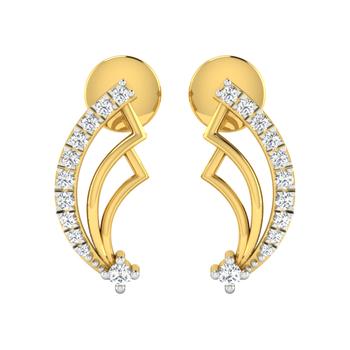 Arkina Diamond's Triple strip gold-diamond earrings