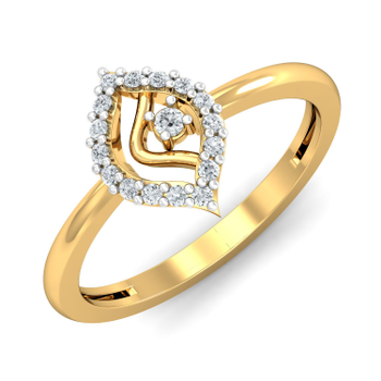 Arkina Diamond's Diamond Leaf Ring