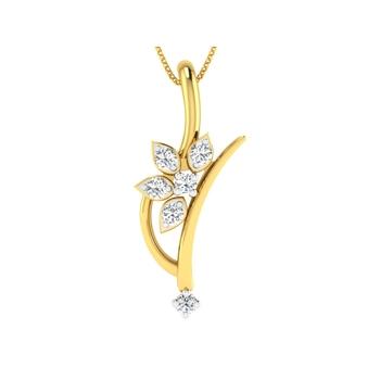 Arkina Diamond's diamond petal pendent