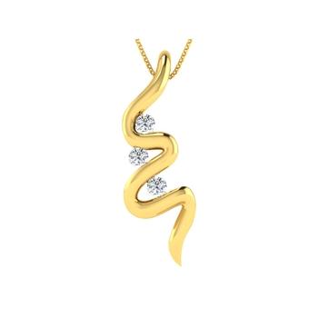 Arkina Diamond's Cherry Wave Pendant