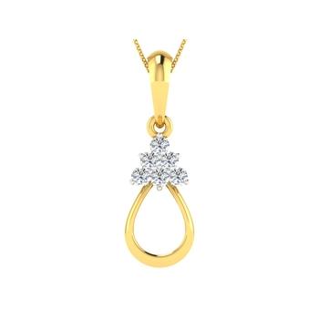Arkina Diamond's hanging leaf pendent