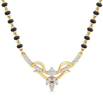 Arkina Diamond's Fashionable gold-diamond mangalsutra