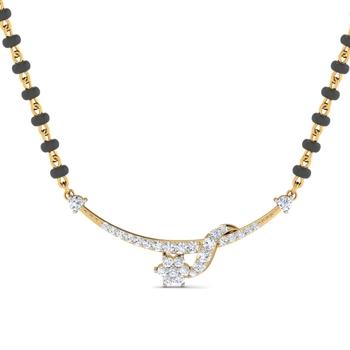 Arkina Diamond's Blupita diamond mangalsutra
