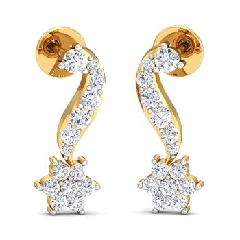 Arkina Diamond's hanging star earrings