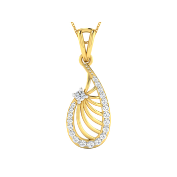 Arkina Diamond's stylish oval diamond studded pendent