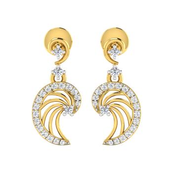 Arkina Diamond's colon shaped earrings