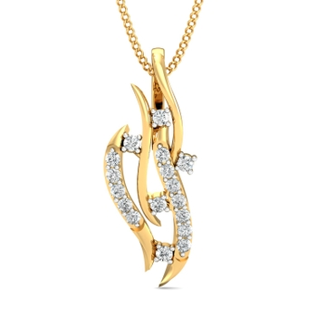 Arkina Diamond's curved lines pendent