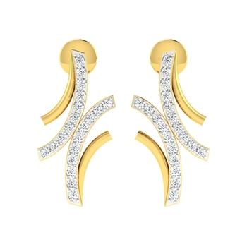 Arkina Diamond's Simple pavel diamond earrings