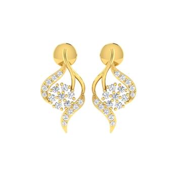 Arkina Diamond's Shimmer Bask earrings