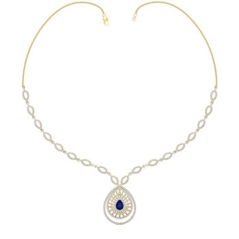 Arkina Diamond's Dazzling sapphire necklace