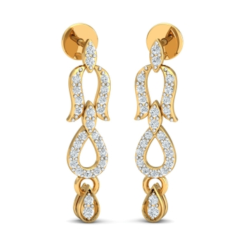 Arkina Diamond's hanging design earrings