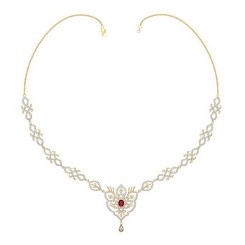 Arkina Diamond's Gemstone sparkle diamond necklace
