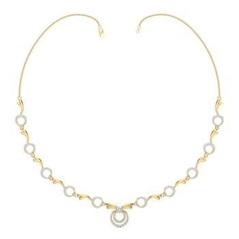 Arkina Diamond's lovely diamond studded circles necklace