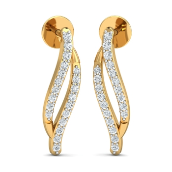 Arkina Diamond's Traditional bling diamond earrings