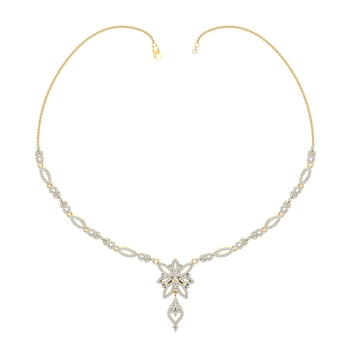 Arkina Diamond's Flower-leaf hanging necklace