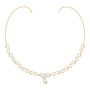 Arkina Diamond's Tangled curves necklace