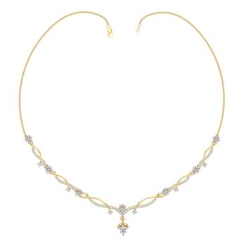 Arkina Diamond's Gold Spine Necklace