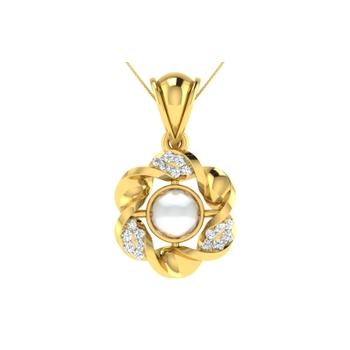 Arkina Diamond's Hibiscus pendent