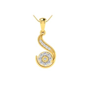 Arkina Diamond's Style curved pendent
