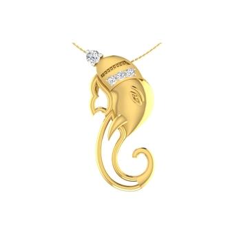Arkina Diamond's Divine Ganesha pendent
