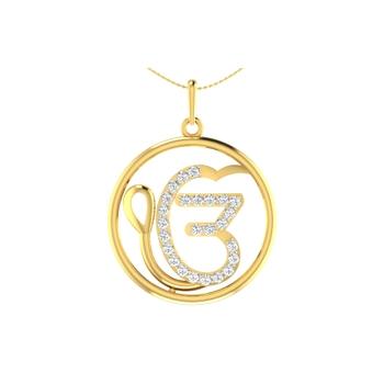 Arkina Diamond's Stylish Om pendent