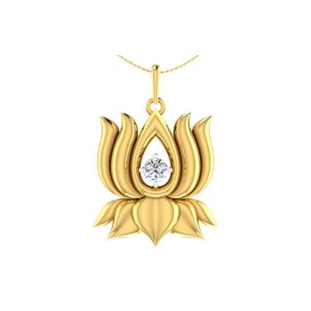 Arkina Diamond's Golden Lotus pendent