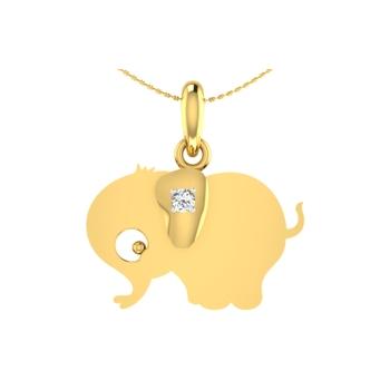 Arkina Diamond's Glowing Elephant pendent