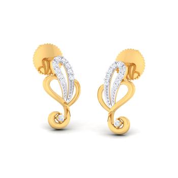 Arkina Diamond's Tangled heart earrings