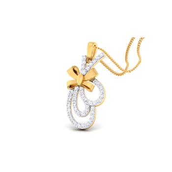 Arkina Diamond's Ribbon tied pendent