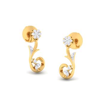 Arkina Diamond's Floral Buds Earrings