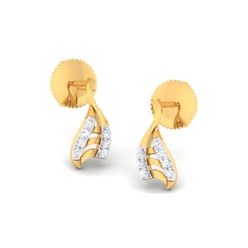 Arkina Diamond's Fancy half leaf earrings