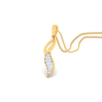 Arkina Diamond's Curved fancy pendent