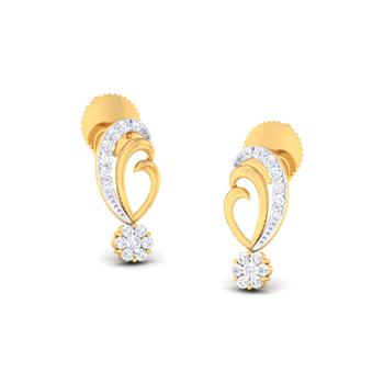 Arkina Diamond's Floral shine earrings