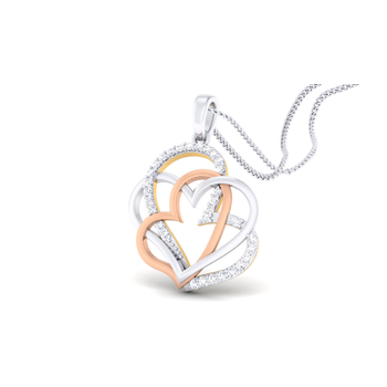 Arkina Diamond's Mixed Hearts pendent
