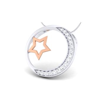 Arkina Diamond's Moon star pendent