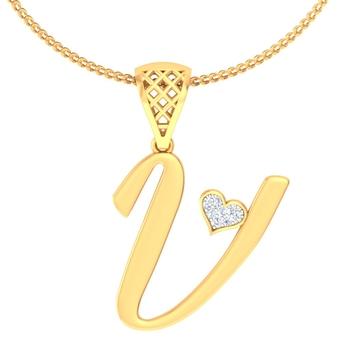 Heart of V pendant