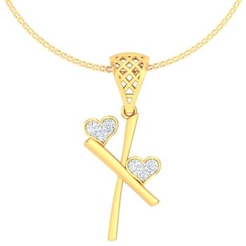 Hearty X pendant