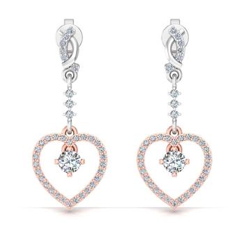 Chain heart earrings
